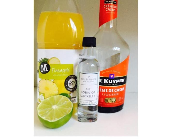 Gin Pineapple Kir Ingredients