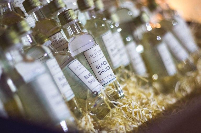 Mini Bottles of Black Shuck Gin