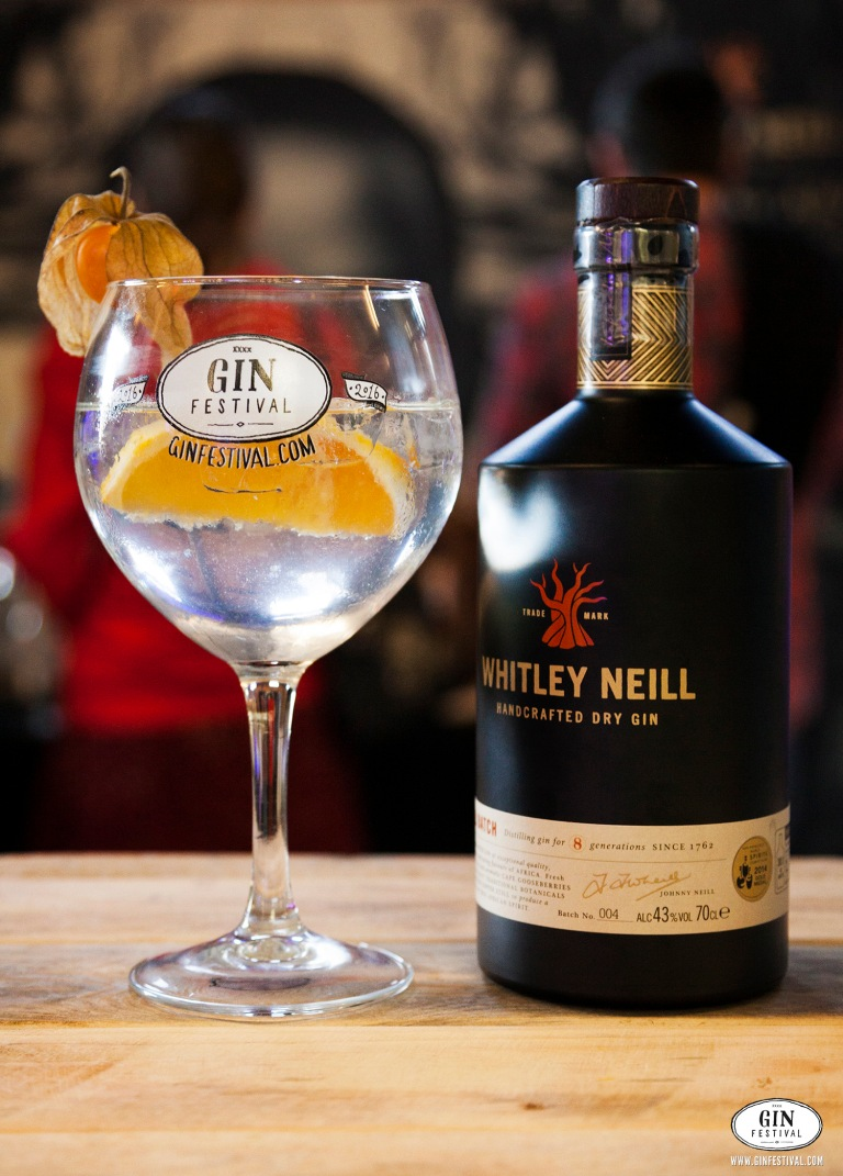 Whitley Neill Gin at Gin Festival with garnish